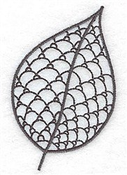 Persimmon Leaf embroidery design