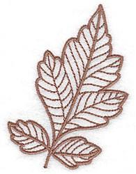 Gambel Oak Leaf embroidery design
