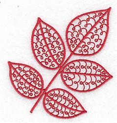 Red Ash Leaf embroidery design