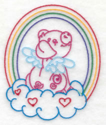 Pig and Rainbow Design embroidery design