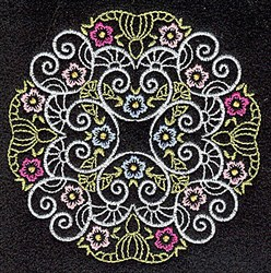 Circle Quilt Motif embroidery design