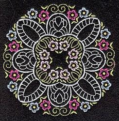 Round Florals embroidery design