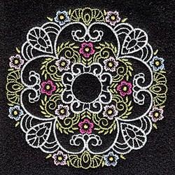 Elegant Quilt Floral embroidery design