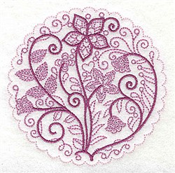 Whimsical Flowers C embroidery design