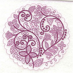 Whimsical Flowers D embroidery design