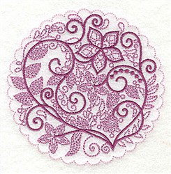 Whimsical Flowers G embroidery design