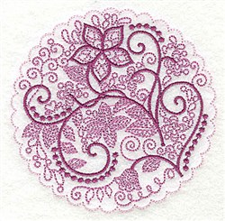 Whimsical Flowers J embroidery design