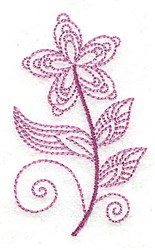 Whimsical Flower 7 embroidery design