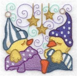 Sleepy Ducks embroidery design
