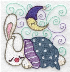 Sleepy Bunny embroidery design