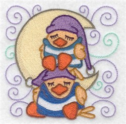 Sleeping Ducks embroidery design
