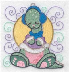 Sleepy Dinosaur embroidery design