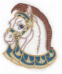 Carousel Horse Head embroidery design
