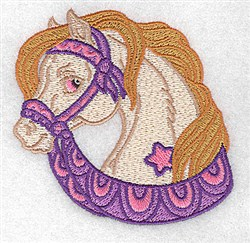 Cute Carousel Horse embroidery design