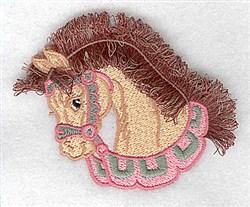 Elegant Fringed Horse embroidery design