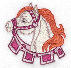 Pretty Carousel Horse embroidery design