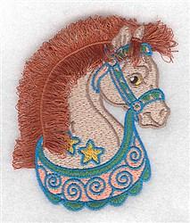 Adorable Fringe Horse embroidery design