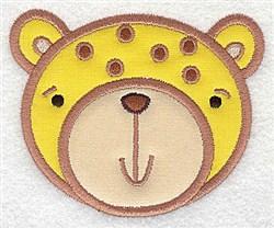 Cheetah Head Applique embroidery design