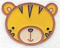 Tiger Head Applique embroidery design
