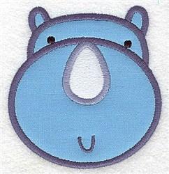 Rhino Head Applique embroidery design