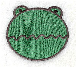 Frog Head embroidery design