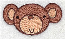 Monkey Head embroidery design