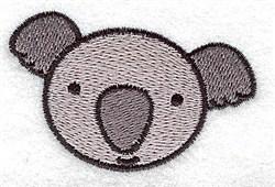 Koala Head embroidery design