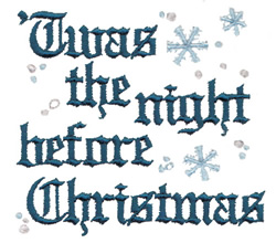 The Night Before Christmas embroidery design