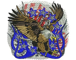 Ameircan Eagle embroidery design