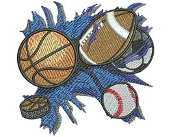 ALL SPORTS embroidery design