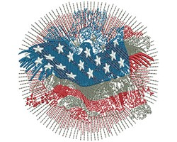 American Eagle Fireworks embroidery design