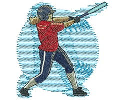 Fastpitch Swing embroidery design