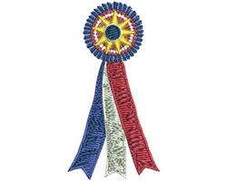 Best In Show Ribbon embroidery design