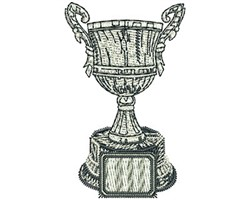 Champion Trophy embroidery design