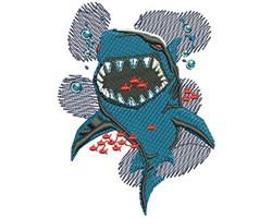 Shark Bite embroidery design