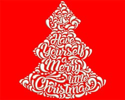 A Merry Little Christmas embroidery design