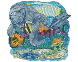 Sea Life Orlando embroidery design