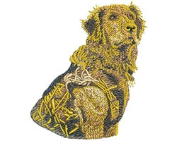 GOLDEN HUNTER embroidery design