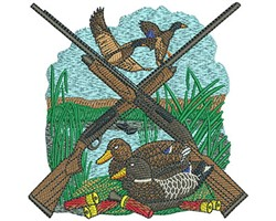 DUCK HUNTING LAYOUT embroidery design