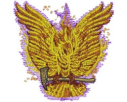 Fire Bird embroidery design