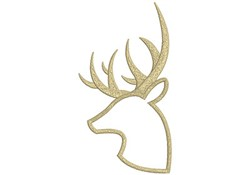Deer Head Outline embroidery design