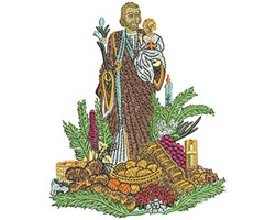 St Josephs Altar embroidery design