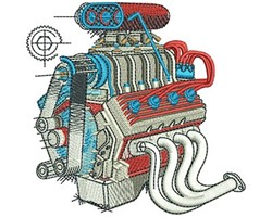 ENGINE embroidery design
