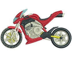 ROCKET BIKE embroidery design