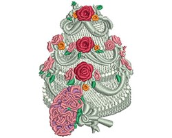 FLOWER AND CAKE embroidery design