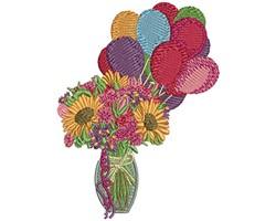 BIRTHDAY FLOWERS embroidery design