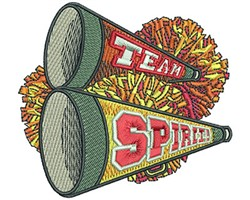 CHEER HORN embroidery design