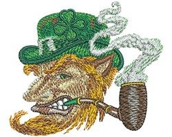 Leprechaun Profile embroidery design