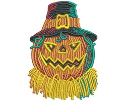 PUMPKIN WITH HAT embroidery design