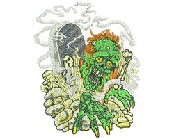 ZOMBIE GRAVEYARD embroidery design